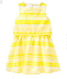 crazy8 yello/whitestripe double layer dress Little Girl
